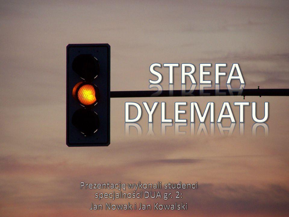STREFA DYLEMATU Prezentację wykonali studenci specjalności DUA gr. 2: