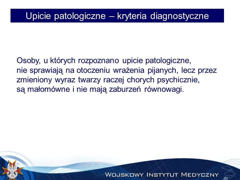 Upicie patologiczne – kryteria diagnostyczne