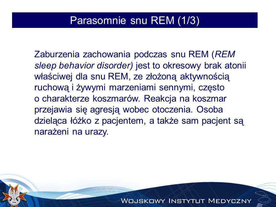 Parasomnie snu REM (1/3)