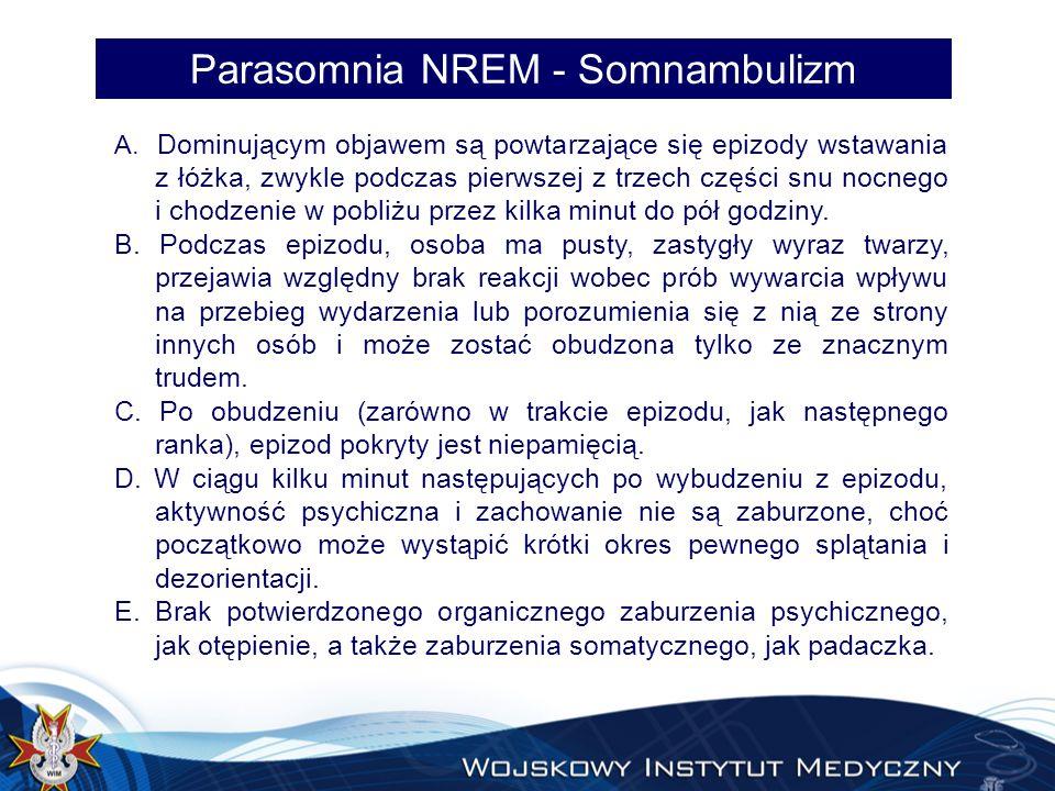 Parasomnia NREM - Somnambulizm