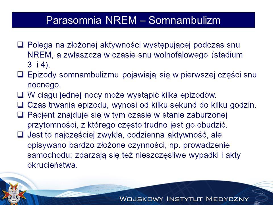 Parasomnia NREM – Somnambulizm