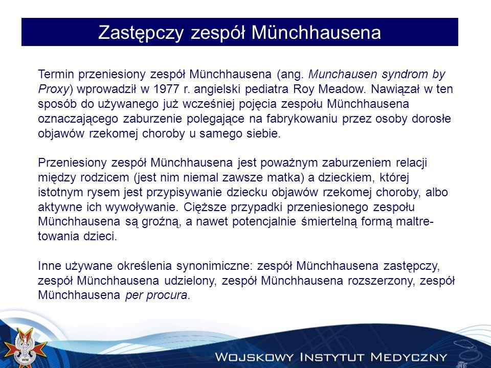 Zastępczy zespół Münchhausena