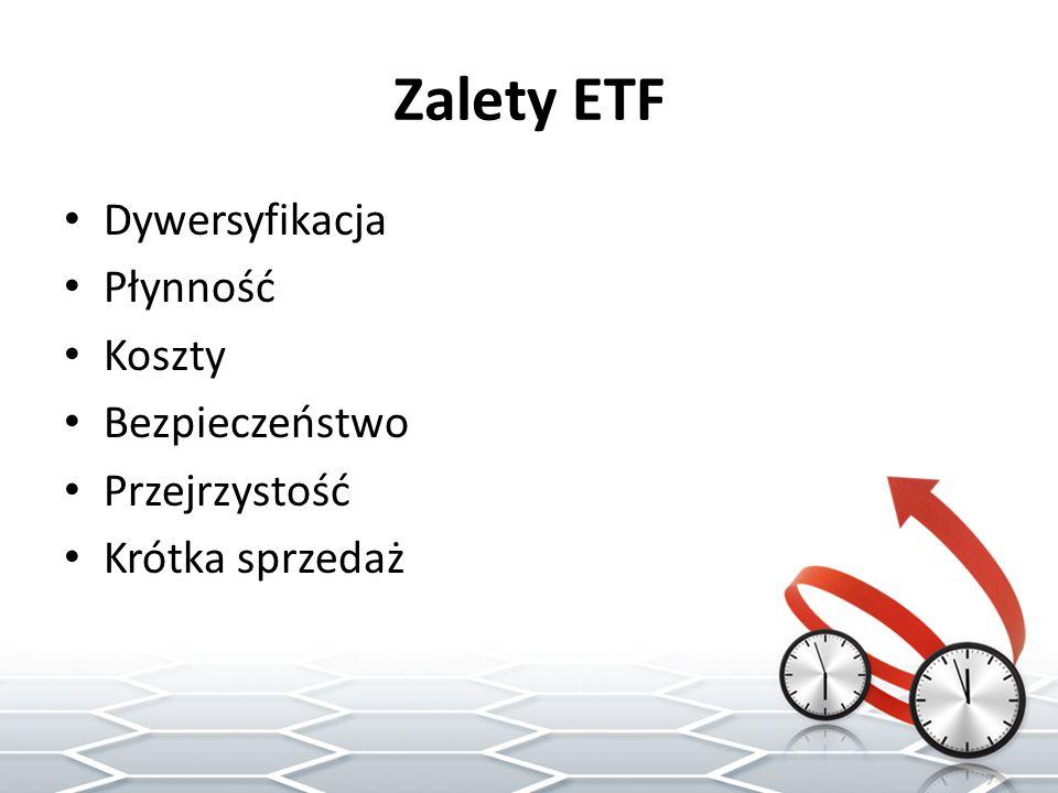 Zalety ETF Dywersyfikacja Płynność Koszty Bezpieczeństwo Przejrzystość