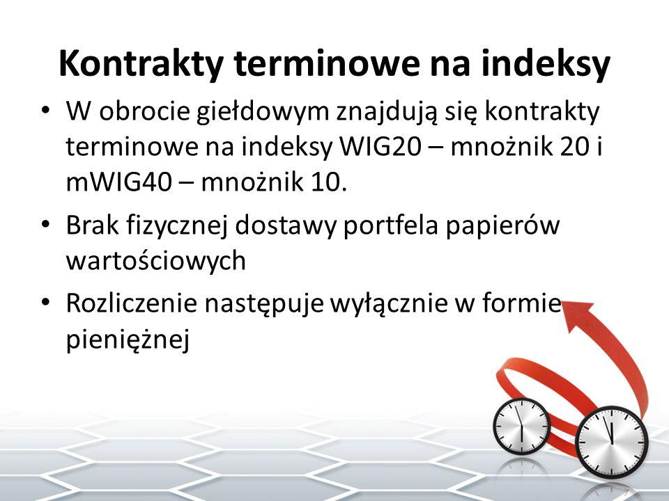 Kontrakty terminowe na indeksy
