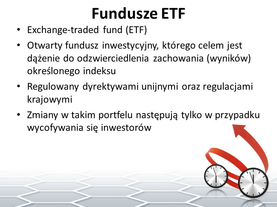 Fundusze ETF Exchange-traded fund (ETF)