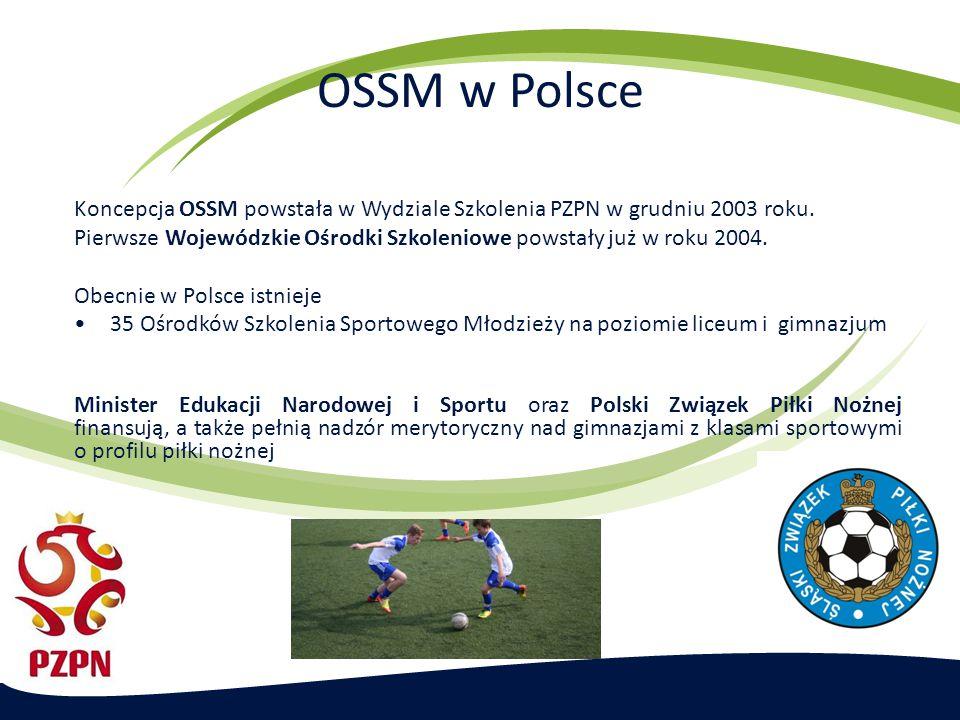 OSSM w Polsce Koncepcja OSSM powstała w Wydziale Szkolenia PZPN w grudniu 2003 roku.
