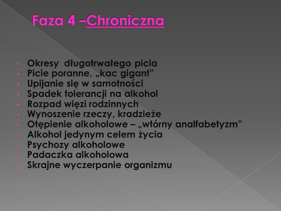 Faza 4 –Chroniczna Okresy długotrwałego picia