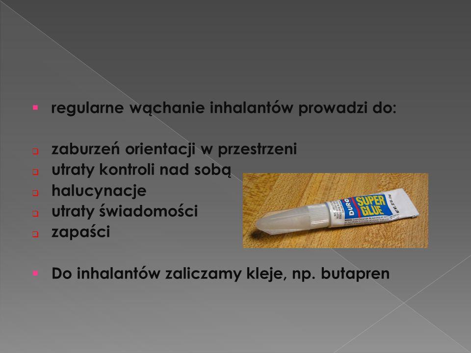 regularne wąchanie inhalantów prowadzi do: