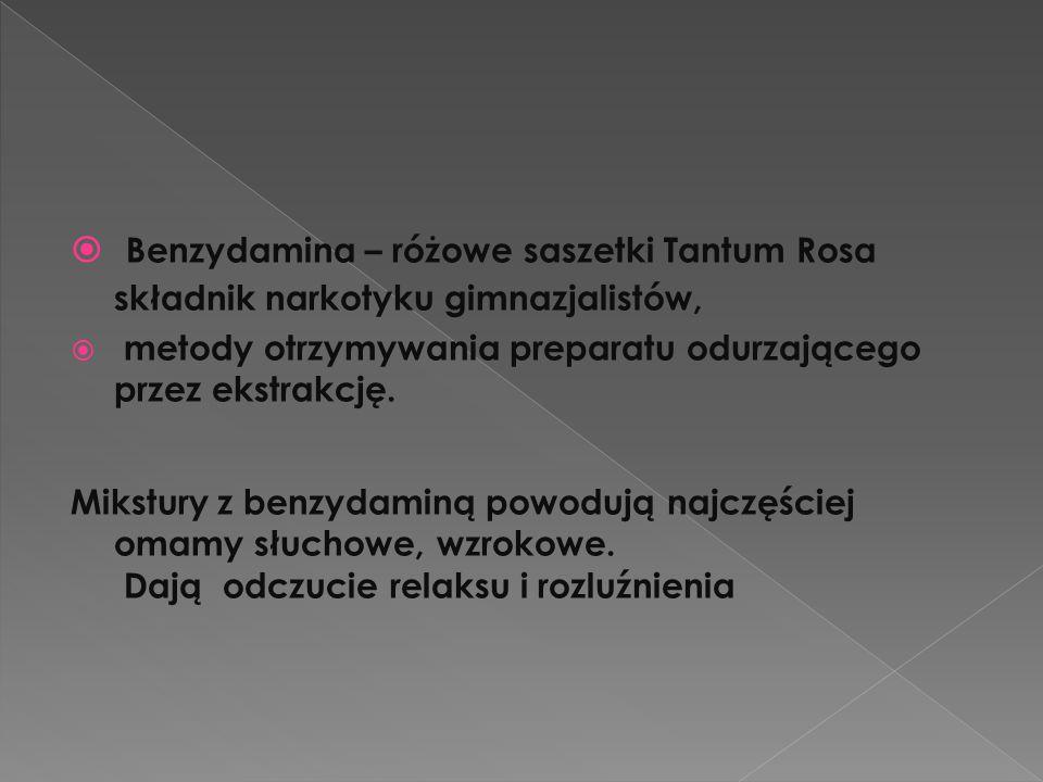 Benzydamina – różowe saszetki Tantum Rosa składnik narkotyku gimnazjalistów,