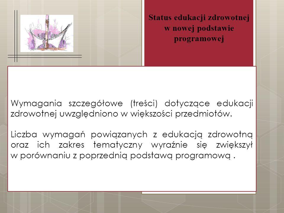 Status edukacji zdrowotnej w nowej podstawie programowej