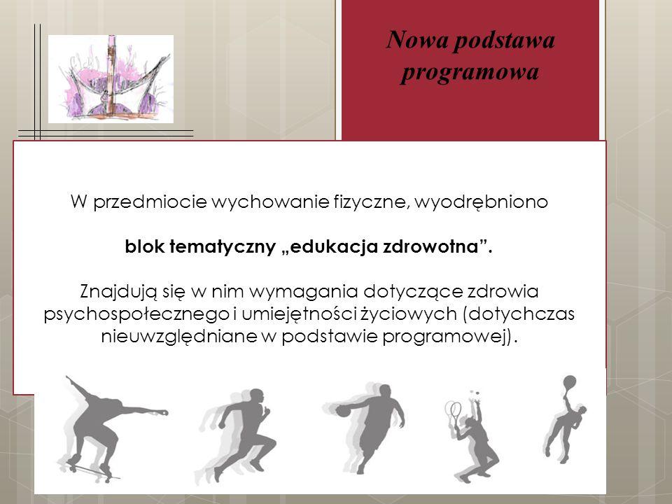 """Nowa podstawa programowa blok tematyczny """"edukacja zdrowotna ."""
