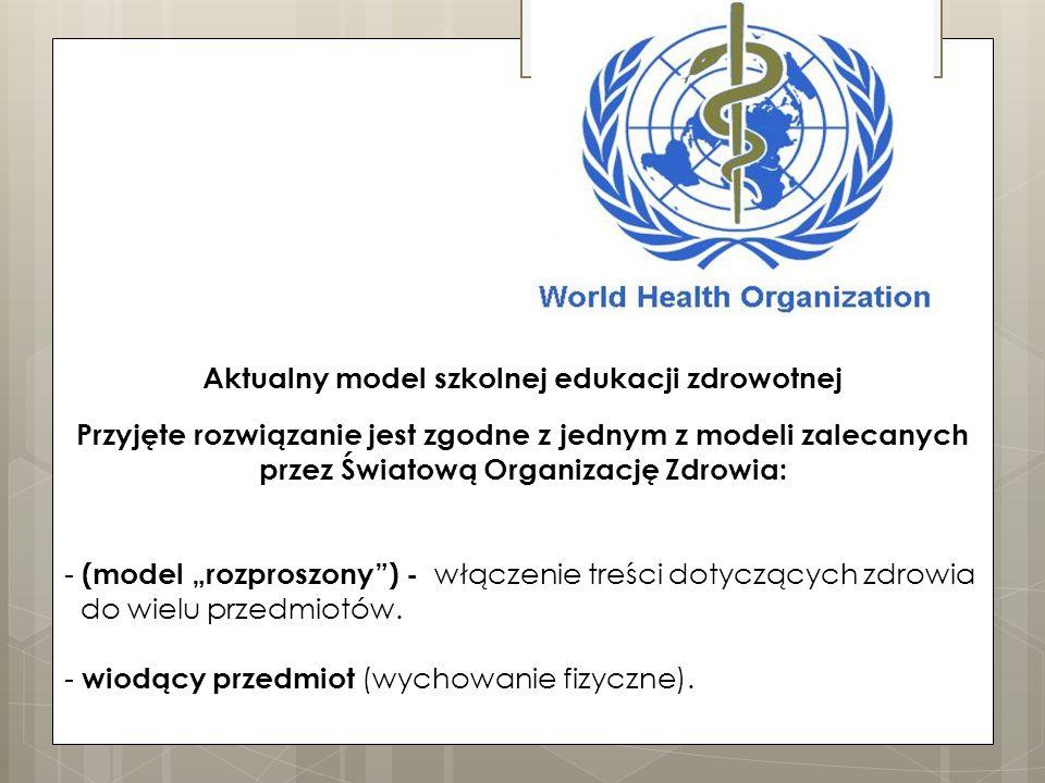 Aktualny model szkolnej edukacji zdrowotnej