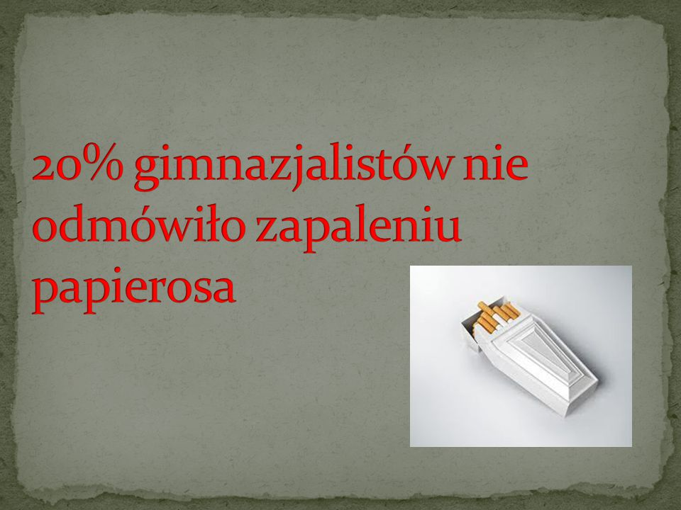 20% gimnazjalistów nie odmówiło zapaleniu papierosa