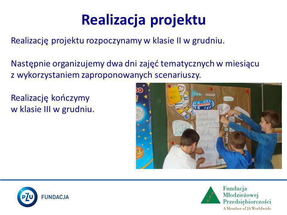 Realizacja projektu Realizację projektu rozpoczynamy w klasie II w grudniu.
