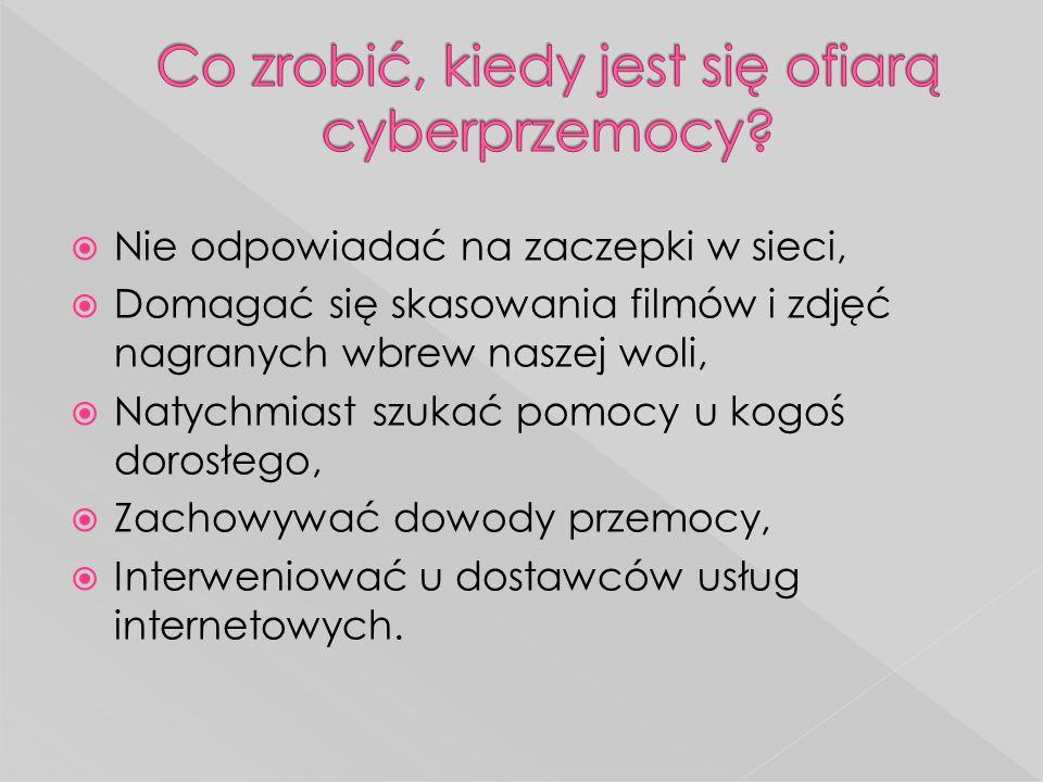 Co zrobić, kiedy jest się ofiarą cyberprzemocy