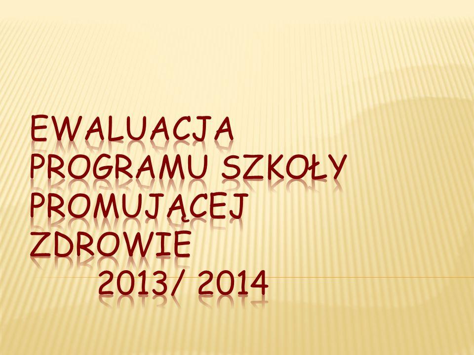 EWALUACJA PROGRAMU SZKOŁY PROMUJĄCEJ ZDROWIE 2013/ 2014