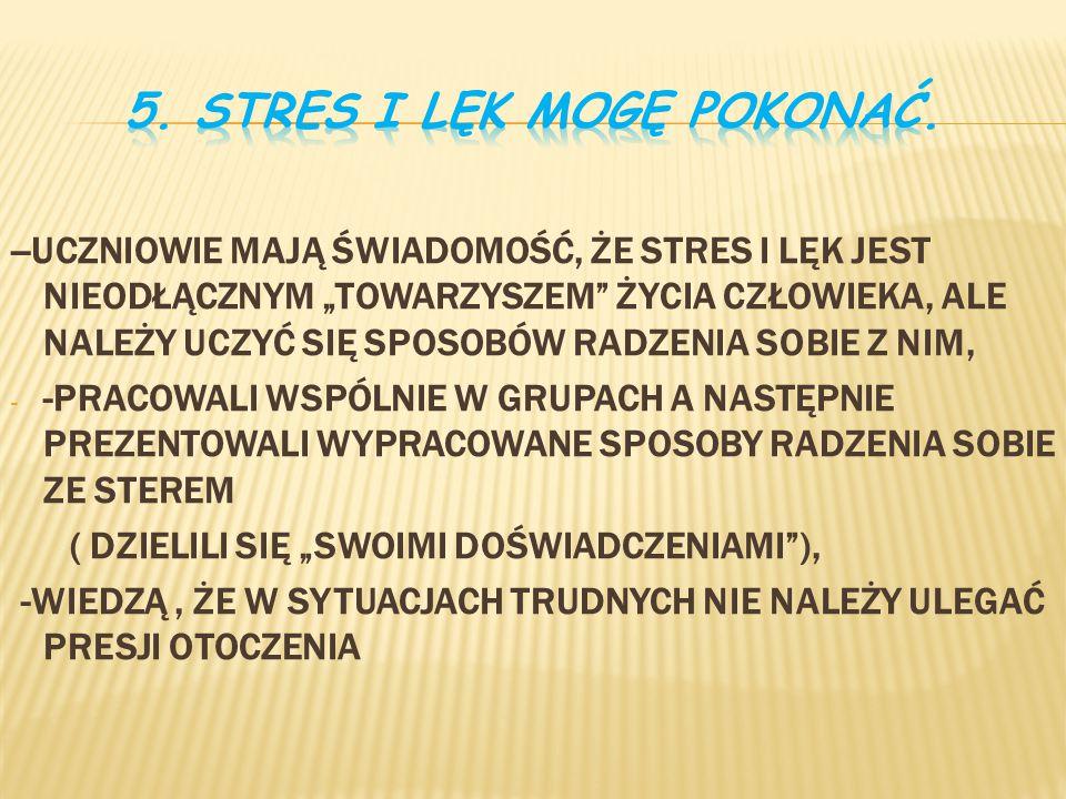 5. STRES I LĘK MOGĘ POKONAĆ.