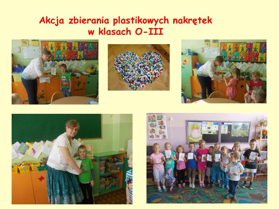 Akcja zbierania plastikowych nakrętek w klasach O-III