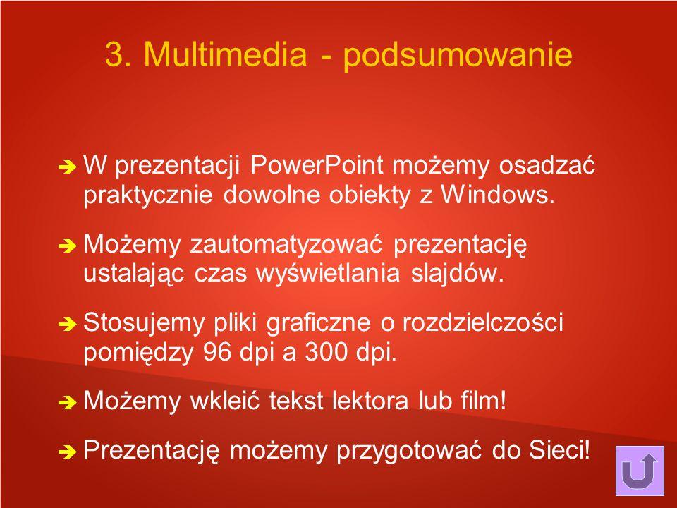 3. Multimedia - podsumowanie