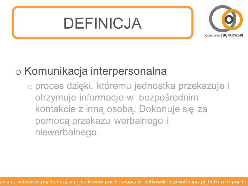 DEFINICJA Komunikacja interpersonalna