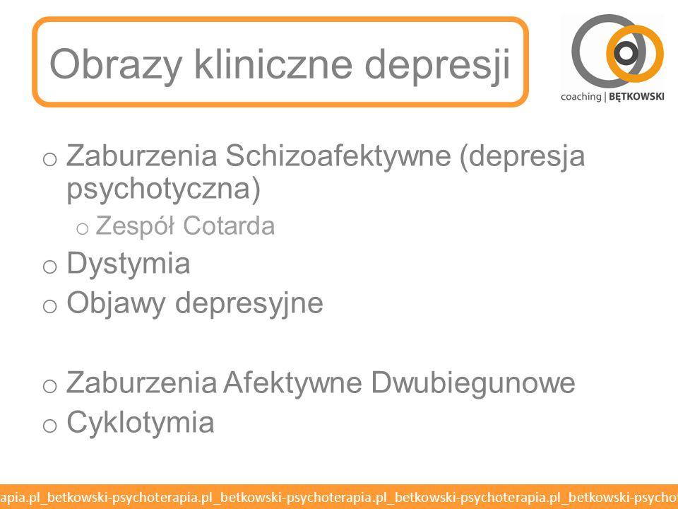 Obrazy kliniczne depresji