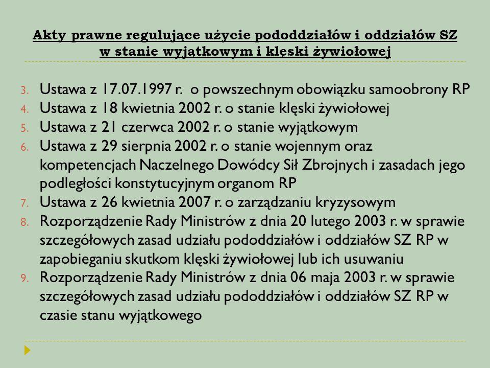 Ustawa z 17.07.1997 r. o powszechnym obowiązku samoobrony RP