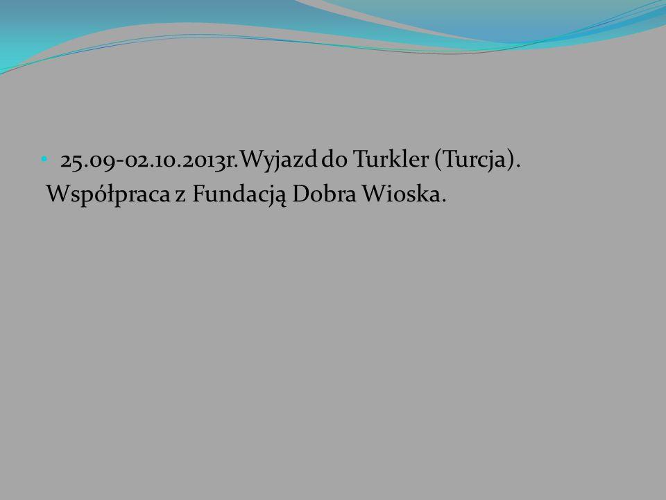 25.09-02.10.2013r.Wyjazd do Turkler (Turcja).