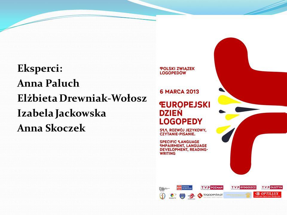 Eksperci: Anna Paluch Elżbieta Drewniak-Wołosz Izabela Jackowska Anna Skoczek