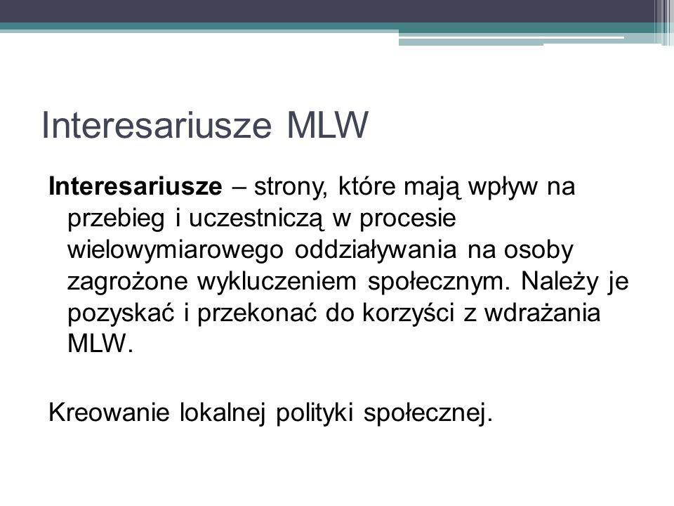 Interesariusze MLW