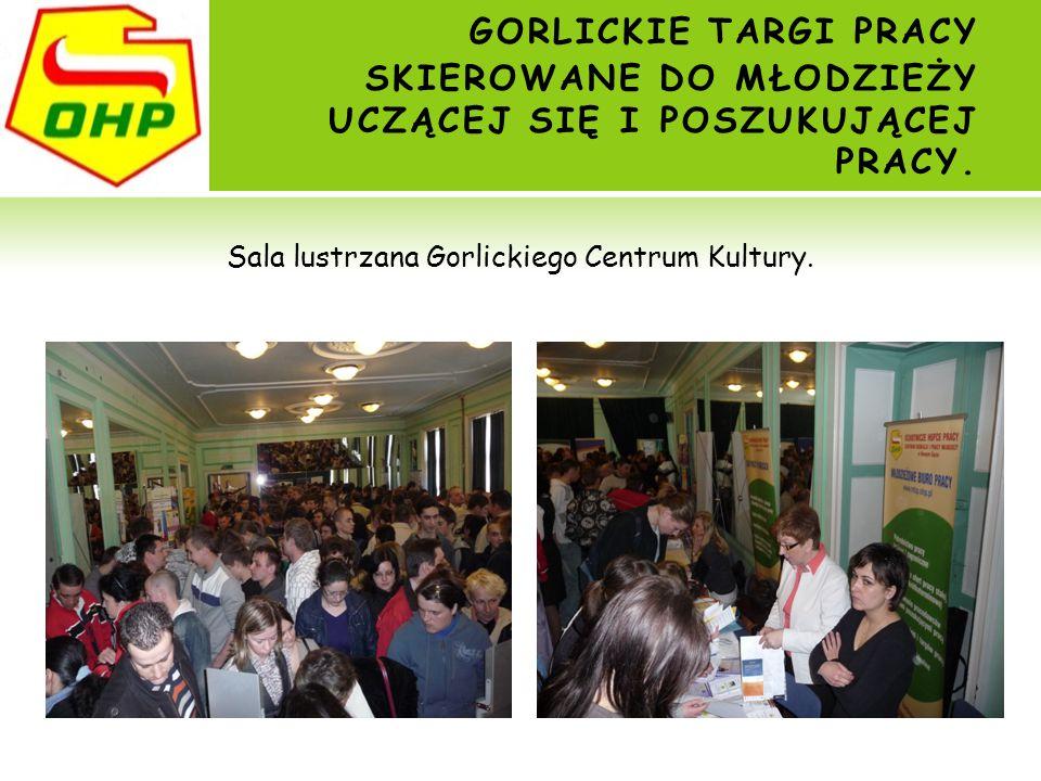 Sala lustrzana Gorlickiego Centrum Kultury.