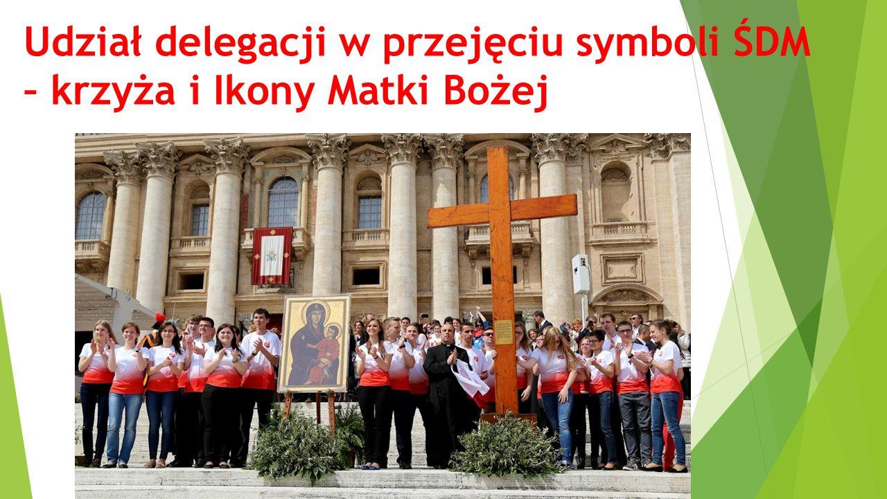 Udział delegacji w przejęciu symboli ŚDM – krzyża i Ikony Matki Bożej
