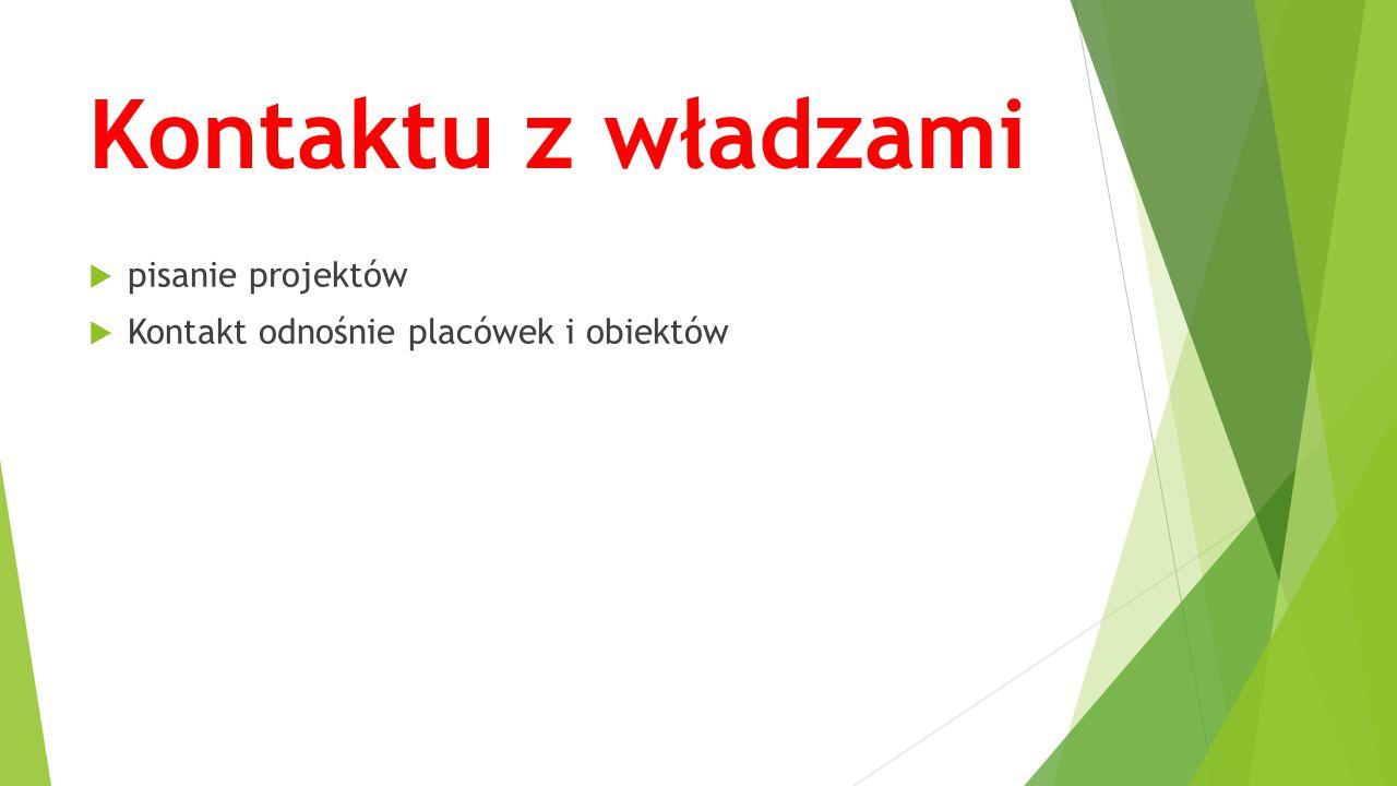 Kontaktu z władzami pisanie projektów