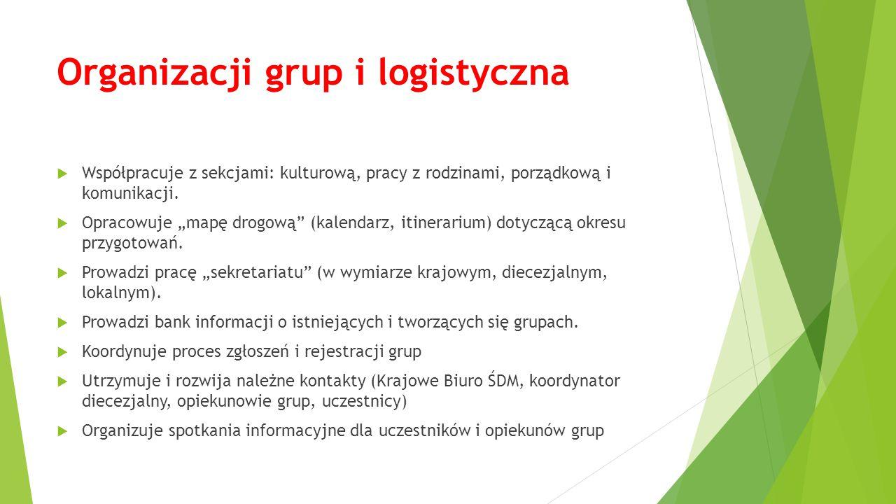 Organizacji grup i logistyczna