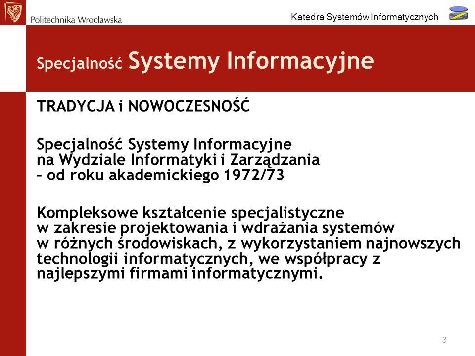 Specjalność Systemy Informacyjne