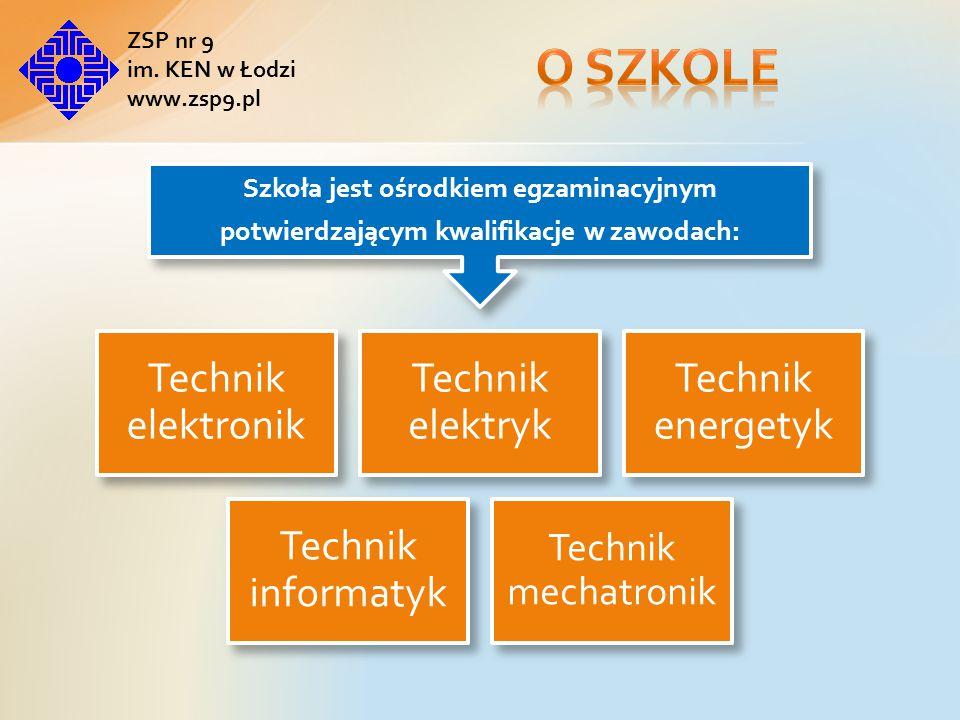 O szkole Technik elektronik Technik elektryk Technik energetyk