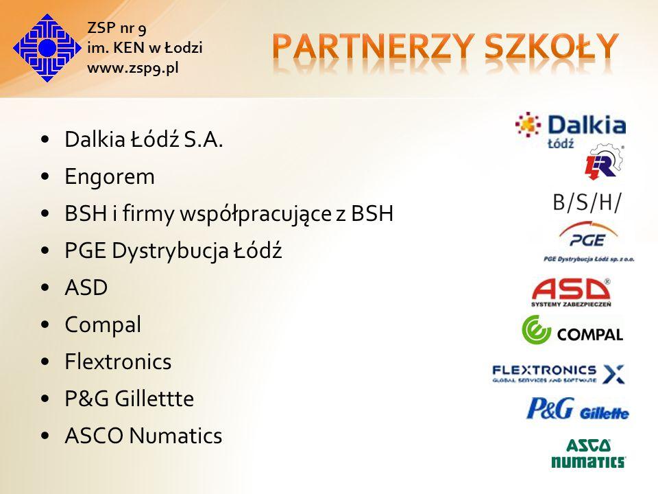Partnerzy szkoły Dalkia Łódź S.A. Engorem