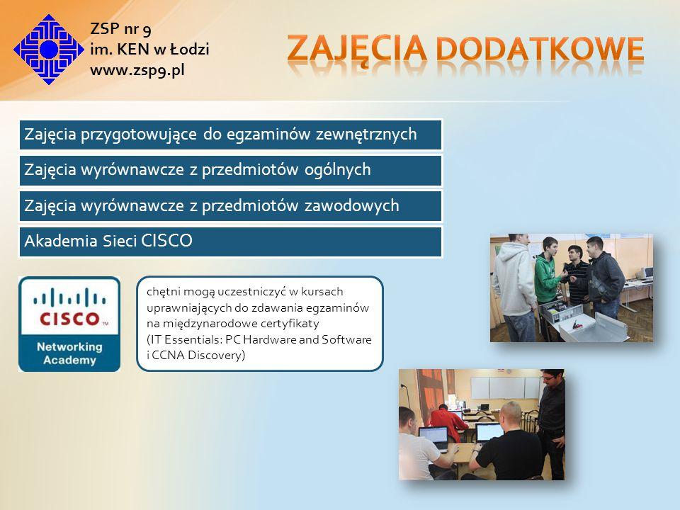 Zajęcia dodatkowe Akademia Sieci CISCO ZSP nr 9 im. KEN w Łodzi