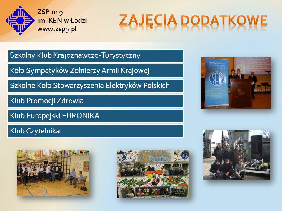 Zajęcia dodatkowe ZSP nr 9 im. KEN w Łodzi www.zsp9.pl
