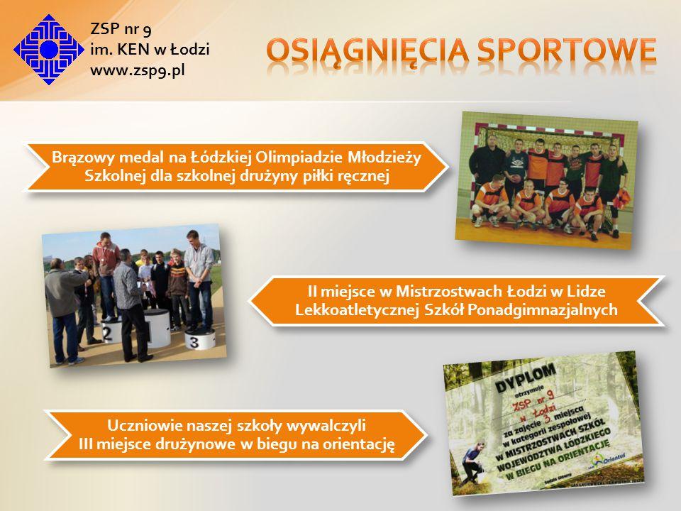 Osiągnięcia sportowe ZSP nr 9