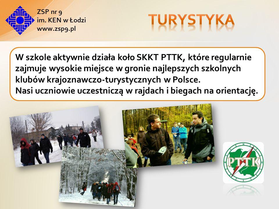 Turystyka ZSP nr 9. im. KEN w Łodzi. www.zsp9.pl.