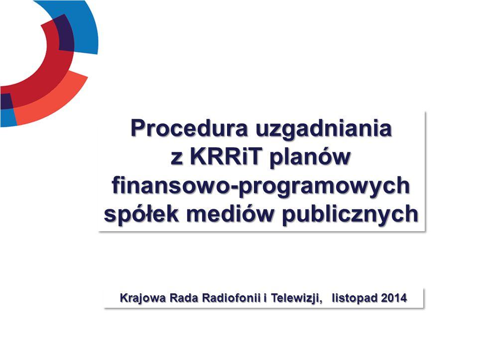 Procedura uzgadniania z KRRiT planów finansowo-programowych