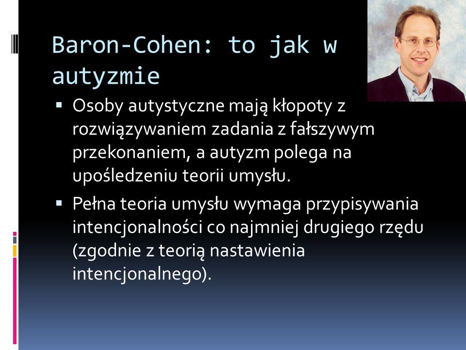 Baron-Cohen: to jak w autyzmie