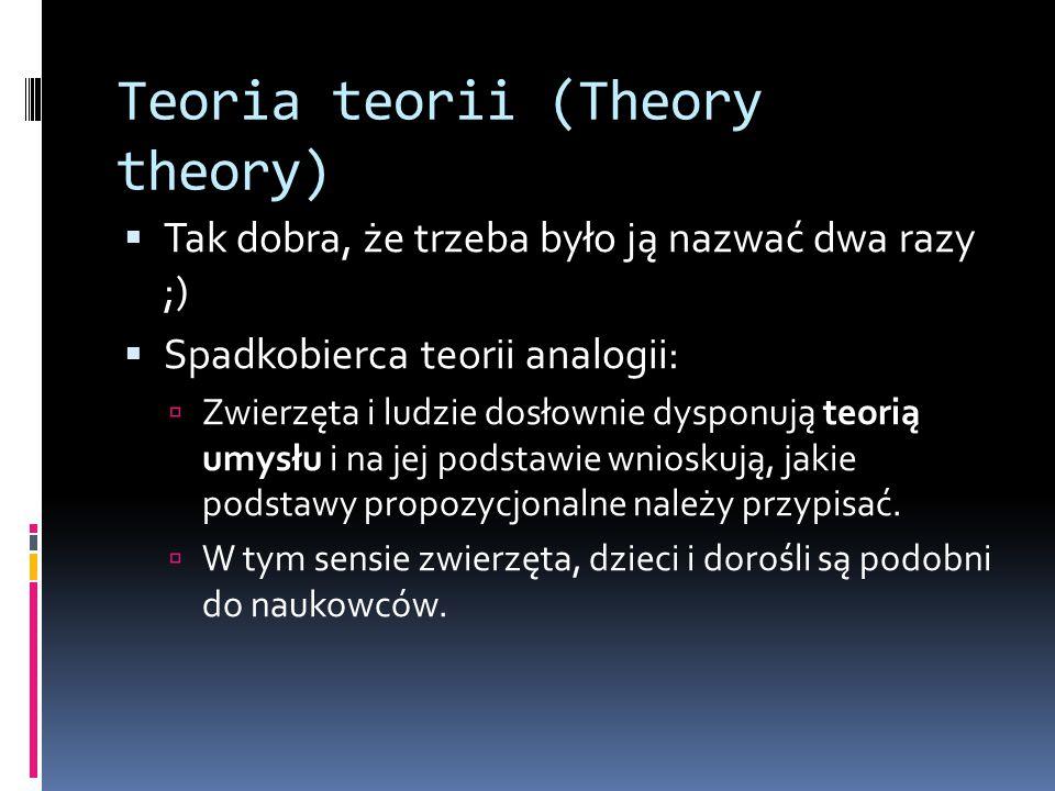 Teoria teorii (Theory theory)
