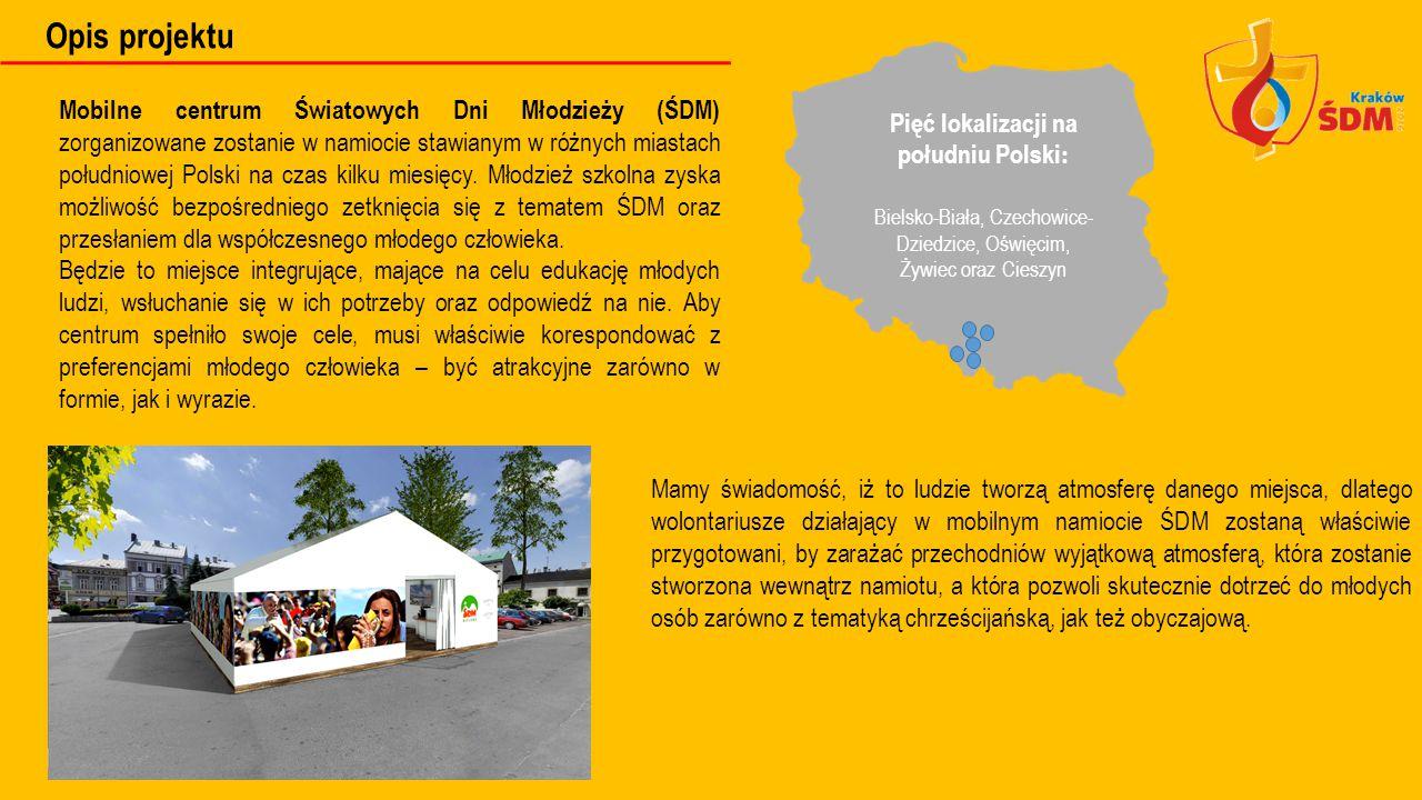 Pięć lokalizacji na południu Polski: