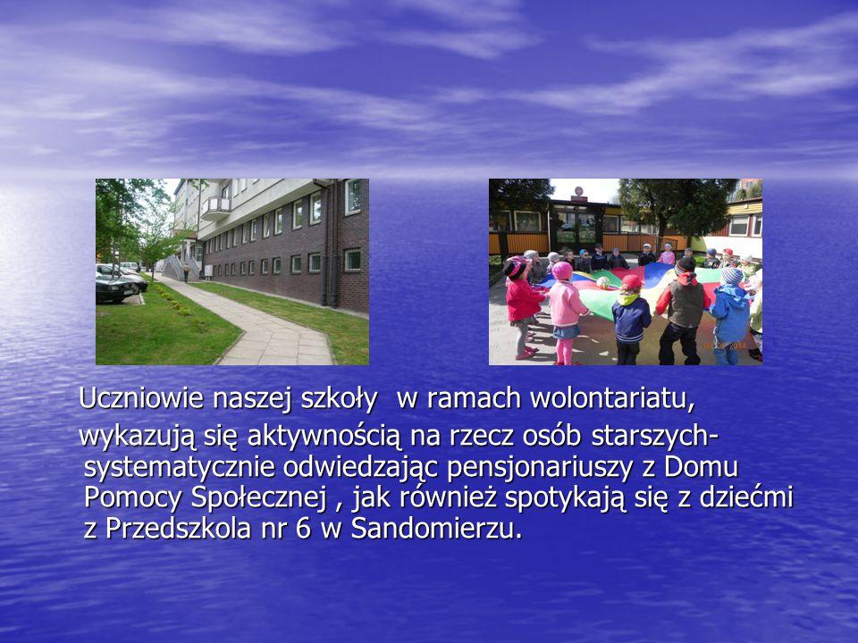 Uczniowie naszej szkoły w ramach wolontariatu,