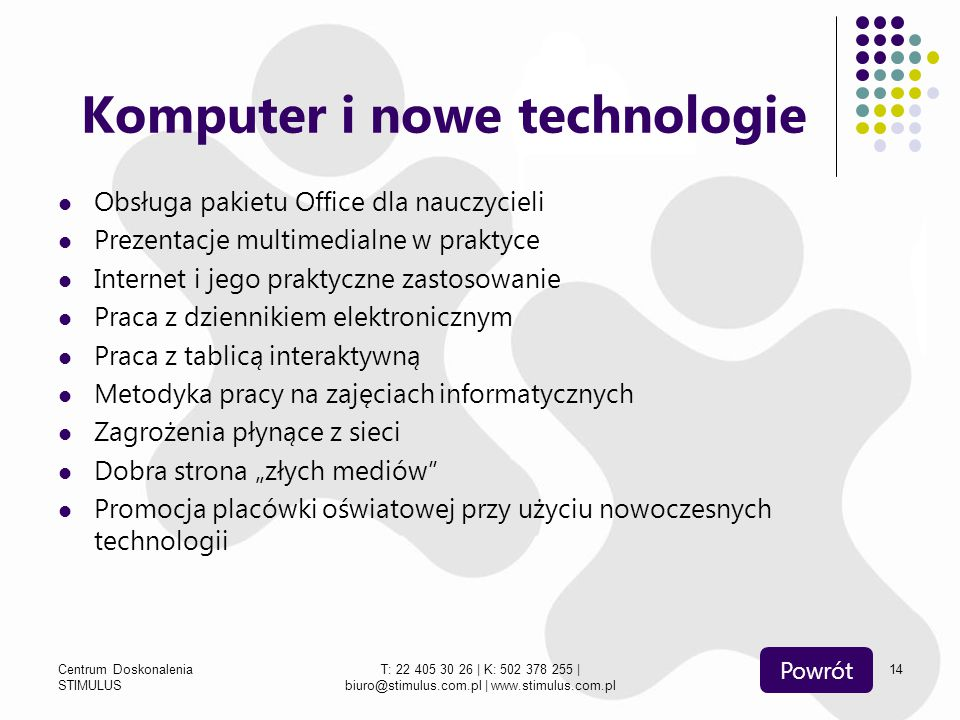 Komputer i nowe technologie