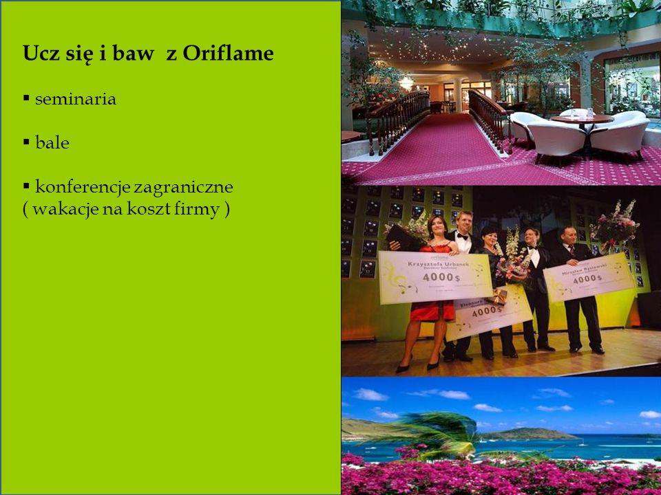 Ucz się i baw z Oriflame seminaria bale konferencje zagraniczne