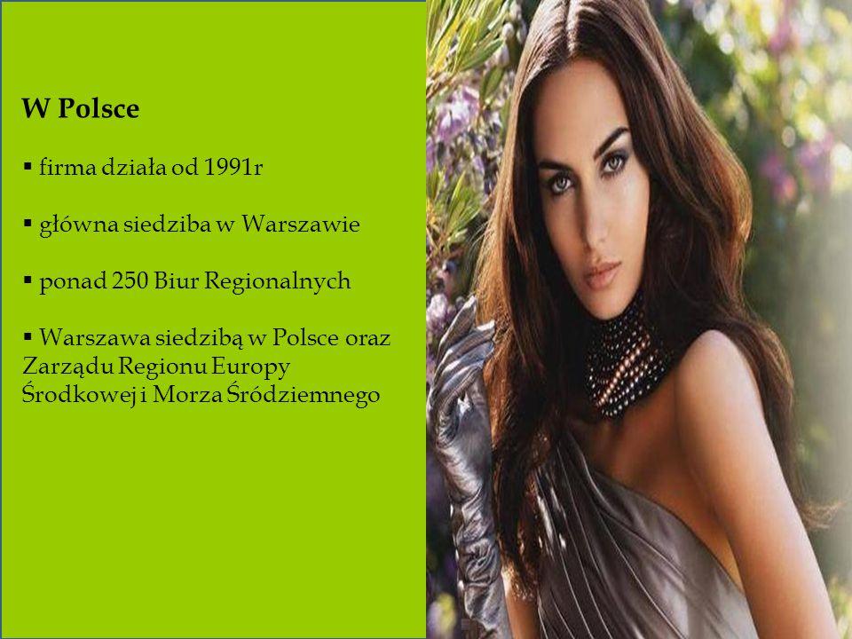 W Polsce firma działa od 1991r główna siedziba w Warszawie