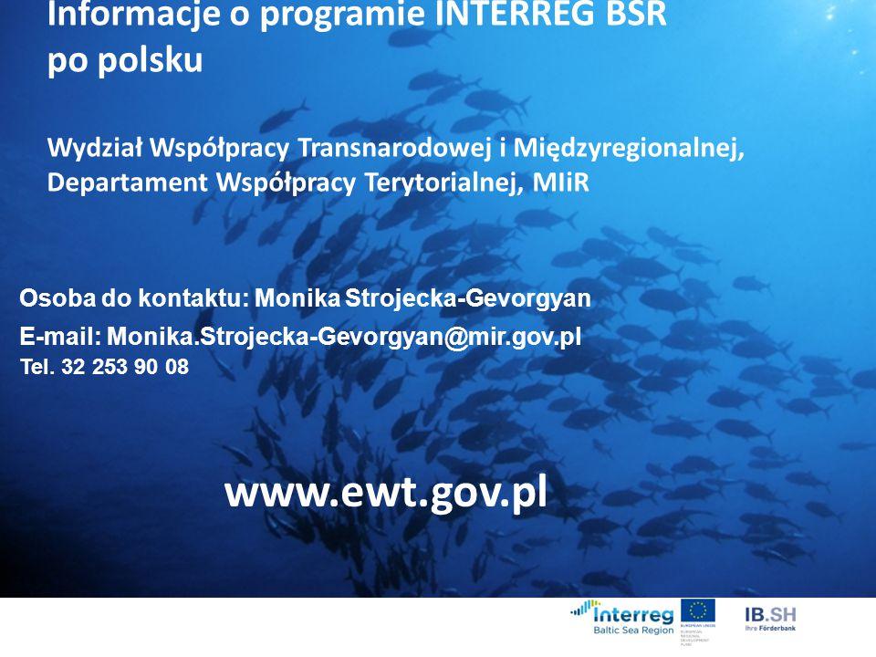 www.ewt.gov.pl Informacje o programie INTERREG BSR po polsku