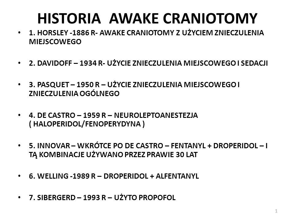 HISTORIA AWAKE CRANIOTOMY